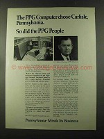 1973 Pennsylvania Commerce Ad - PPG Computer Chose