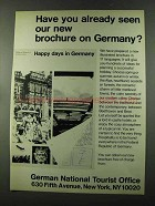 1973 German National Tourist Office Ad - Already Seen?