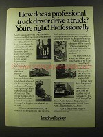 1973 ATA American Trucking Association Ad, Professional
