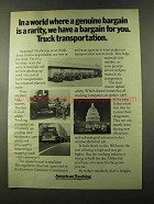 1973 ATA American Trucking Association Ad - Bargain