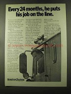 1973 ATA American Trucking Association Ad - Job on Line