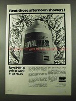 1973 Uniroyal Royal MH-30 Ad - Beat Afternoon Showers
