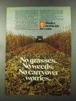 1973 Shell Bladex Herbicide for Corn Ad - No Grasses