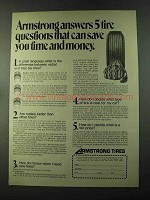 1973 Armstrong Tires Ad - Save Time and Money