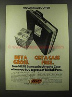 1973 Bic Pens Ad - Samsonite Attache Case