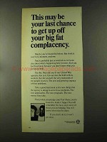 1973 United Way Ad - Big Fat Complacency