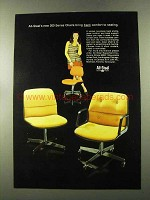 1973 All-Steel 200 Series Chairs Ad - Back Comfort