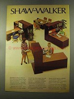 1973 Shaw-Walker Modular Work Stations Advertisement
