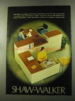 1973 Shaw-Walker Modular Work Stations Ad