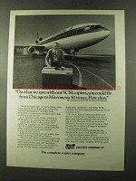 1973 SCM Copiers Ad - Continental Airlines