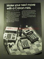 1973 Canon Calculator Ad - L800, Palmtronic LE-80