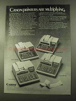 1973 Canon Calculator Ad - MP142R MP141 MP1212 MP1210