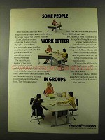 1973 Oxford Cluster 120 Desk Ad - Better in Groups