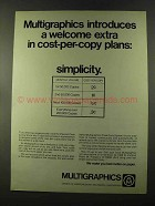 1973 Addressograph Multigraph Ad - Multigraphics