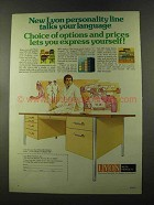 1973 Lyon Office Furniture Ad - Personality Line