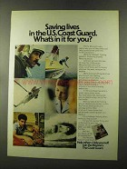 1973 U.S. Coast Guard Ad - Saving Lives