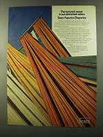 1973 Sears Aquarius Draperies Ad - Textured Weave