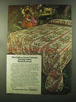 1973 Sears Sudbury Square Collection Linens Ad