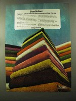1973 Sears Colorburst Towels Ad - Born Brilliant