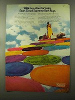 1973 Sears Cloud Supreme Bath Rugs Ad - Walk on Color