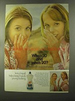 1973 Ivory Liquid Ad - Who's 30 and Who's 20?