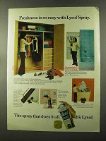 1973 Lysol Spray Ad - Freshness is So Easy