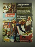 1973 Coleman Coolers and Jugs Ad