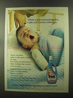 1973 Downy Fabric Softener Ad - When Not Touching Him