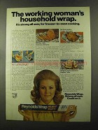 1973 Reynolds Wrap Ad - Working Woman's