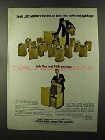 1973 Sears Lady Kenmore Compactor Ad - Nasty Garbage