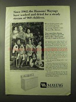 1973 Maytag Washer and Dryer Ad - The Hansons' Children