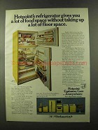 1973 Hotpoint Model CTF21EP Refrigerator Ad - Space