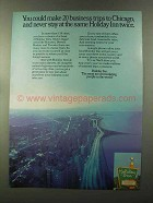 1973 Holiday Inn Ad - 20 Business Trips to Chicago