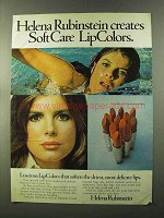 1973 Helena Rubinstein SoftCare LipColors Lipstick Ad