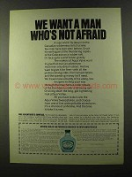 1973 Aqua Velva After Shave Ad - Man Who's Not Afraid