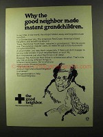 1973 American Red Cross Ad - Made Instant Grandchildren