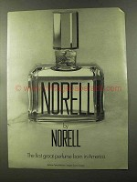 1973 Norell Perfume Ad - First Great Born in America