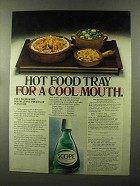 1973 Scope Mouthwash Ad - Hot Food Tray