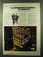 1973 UOP United Oil Products Ad - Dwindling Bundle