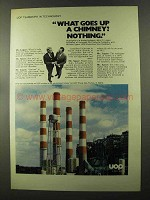 1973 UOP United Oil Products Ad - Up a Chimney