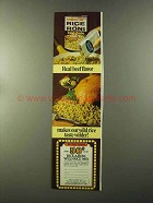 1973 Rice a Roni Ad - Real Beef Flavor Wild Rice
