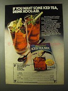 1973 Kool-Aid Iced Tea Mix Ad - If You Want Some