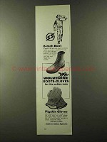1973 Wolverine Boots-Gloves Ad - 8-inch Boot