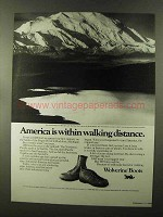 1973 Wolverine Boots Ad - Within Walking Distance