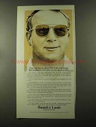 1973 Bausch & Lomb Sunglasses Ad - Arnold Palmer