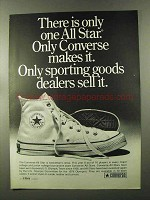 1973 Converse All Star Shoes Ad - There is Only One