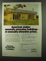 1973 American Buildings Ad - Unusually Attractive