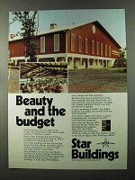1973 Star Buildings Ad - Beauty and the Budget