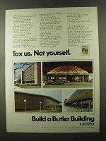 1973 Butler Buildings Ad - Tax Us. Not Yourself