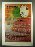 1973 AMP Lead Frames Ad - Who has The Lead